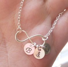 Personalized Infinity Necklace Sterling Silver by MadiesCharms, $31.00