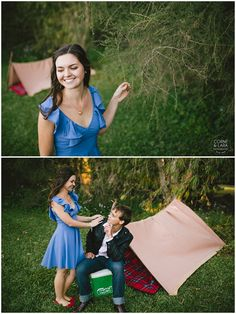 Camping engagement session
