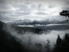 Foggy Mountain Scenery - #AltoAdige #Südtirol #Alps #Nature #mountain