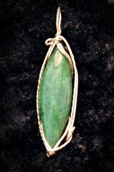 aventurine in sterling silver by OurEarthAngels on Etsy, $20.00