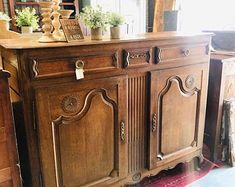 Rustic French, Rustic Style, French Vintage, French Country, Double Sink Vanity, Vanity Sink, Antique Armoire, Sideboard Buffet, Dry Goods