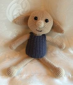 crochet dobby doll pattern.  Could use just head and arms for lovey, but do something different for eyes