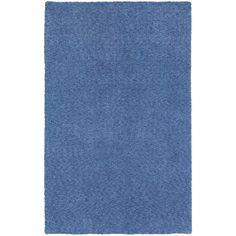 Cozy Indulgence Heathered Blue Shag Rug (3' x 5')