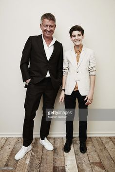 Actors Sean Pertwee (L) and David Mazouz from FOX's 'Gotham' pose in the Getty Images Portrait Studio powered by Samsung Galaxy at the 2015 Summer TCA's at The Beverly Hilton Hotel on August 6, 2015 in Beverly Hills, California.