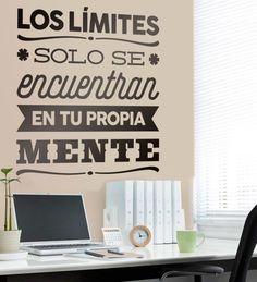 Vinilo decorativo Los límites sólo se encuentran en tu propia mente #teleadhesivo #decoracion