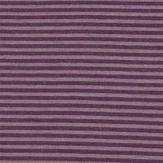 Purple Tonal Mini Stripe Cotton Spandex Knit Fabric :: $6.25