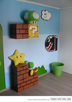 Mario Room for kids...cute play room. Would be pretty easy to do something similar.