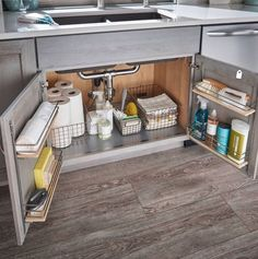 65 Brilliant Kitchen Cabinet Organization and Tips Ideas - Kitchen Makeover D . - 65 Brilliant Kitchen Cabinet Organization and Tips Ideas – Kitchen Makeover D … # brilliant - Small Kitchen Organization, Home Organisation, Organization Ideas For The Home, Small Kitchen Storage, Small Apartment Organization, Bathroom Cabinet Organization, Smart Storage, Storage & Organization, Diy Storage Under Sink