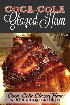 cola-cola glazed ham with brown sugar and dijon that self-bastes in an oven bag for a super easy, super special baked ham.Classic cola-cola glazed ham with brown sugar and dijon that self-bastes in an oven bag for a super easy, super special baked ham. Easter Dinner Recipes, Thanksgiving Recipes, Holiday Recipes, Christmas Ham Recipes, Thanksgiving 2020, Christmas Dishes, Pork Recipes, Cooking Recipes, Baked Ham Recipes