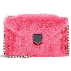 Jimmy Choo Lockett Envelope Mini Fur Shoulder Bag ( 1 9a1c19171c944
