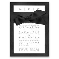 Treasured Jewels Typography - Wedding Invitation - Modern, Simple at Invitations By David's Bridal