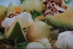 meloen met avocado en feta