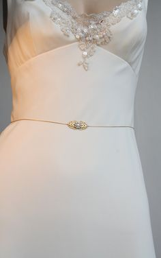 Gold Bridal Belt Sash Rhinestone Crystal & Pearls, Victorian Vintage Style Jewelry Wedding Dress Belt Accessory, Unique Bridal Sash chain. $49.00, via Etsy.