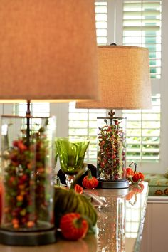 Fillable Lamp can change with the seasons!  H203620 http://qvc.co/-Shop-ValerieParrHill