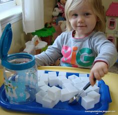Coming Home: Winter Sensory Bin and Winter Themed Tot Trays
