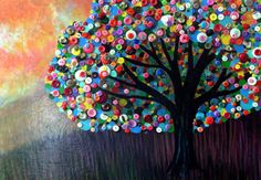 Another button tree. Going to try something like this in art class.