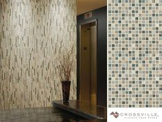 This #WallTileWednesday is brought to you by our Ebb & Flow collection of tromp loeil  wall tiles. With the illusion of three-dimensional patterning these stone and glass mosaics are a unique blend that echo the complex rhythms of nature. Shown here in Sand and Surf. #interiordesign #mosaic #walltile #tiledesign  #tilework #tileart #interiorinspiration by crossvilleinc