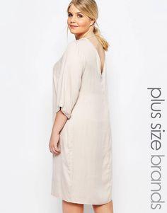 1a3ef70f Carmakoma Plunge Back Shift Dress Plus Størrelse Mode For Kvinder, Kjoler I  Store Størrelser,