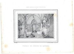 Centre Candes Saint Martin Eglise - Lithographie 19e