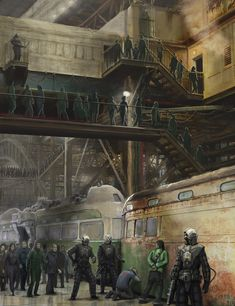 Dystopia, 'Arrested at Train Station' by Filip Dudek.  I really should get…