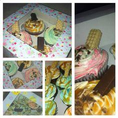Cupcakes cupcakes cupcakes! Cupcakes, Desserts, Painting, Food, Art, Tailgate Desserts, Craft Art, Cupcake, Meal