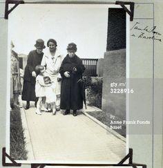 1927-Edith, Margot, Granda Rosa, Aunt Karoline, and relative walking to their home in Frankfurt