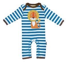 Toby Tiger Lion Applique Organic Cotton Sleepsuit