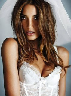 Lily Aldridge for Victoria's Secret bridal collection