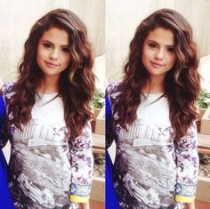 Love her hair! Thick, voluminous waves.
