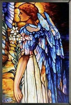 Tiffany's Resurrection Angel Stained Glass by Glassmasters