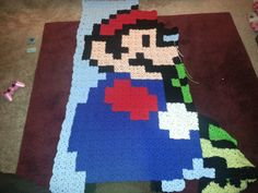 WIP- Mario blanket I'm making for Eric. Can't wait to finish this one!