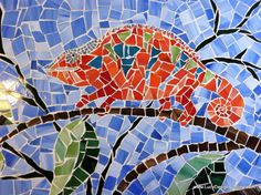 Stained class chameleon!