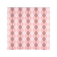 "Pink Argyle 60"" Curtains"
