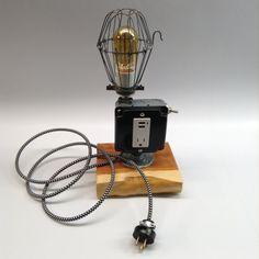 Cell Phone Charger Industrial Lamp Light by ModernArtifactDecor