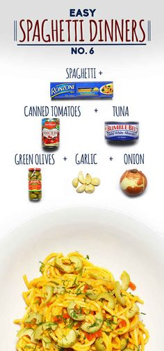 Spaghetti with Easy Puttanesca Sauce | 19 Delicious Spaghetti Dinners