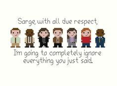 Cross stitch patterns with design by ElementalPatterns on Etsy Brooklyn Nine Nine Rosa, Charles Boyle, Jake And Amy, Jake Peralta, Mini Cross Stitch, Cross Stitching, Beading Patterns, Cross Stitch Patterns, Tv Shows