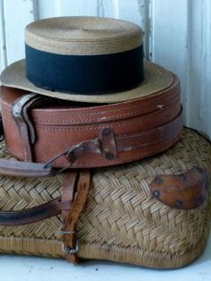 West Indies Decor, British Colonial Style, English Village, Vintage Suitcases, Hat Boxes, Headgear, Outdoor Living, Trunks, Top Hats