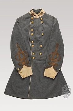 Confederate General's outer jacket, American Civil War, circa 1864.