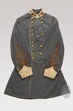 Confederate General's outer jacket, American Civil War, circa 1864.