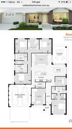 "Grundriss House plan b How Garden Art Creates Your Personal Idyll ""Art enables us to find ourselves House Layout Plans, Family House Plans, Dream House Plans, Modern House Plans, Small House Plans, House Layouts, House Floor Plans, Beautiful House Plans, Home Design Floor Plans"