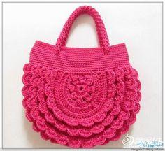 Meu Mundo Craft: Bolsa redonda em crochê