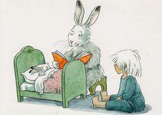 Lena Christine Anderson è una illustratrice svedese. Vintage Book Art, Reading Art, Children's Book Illustration, Book Illustrations, Rabbit Art, Comic, Childrens Books, Images, Sketches