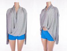 LULULEMON Iconic Wrap 10 M Heathered Medium Grey Light Stripe Boolux Sweater #Lululemon #Sweater