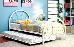 Furniture of America Spectrum Dual Arc Metal Bed, Black