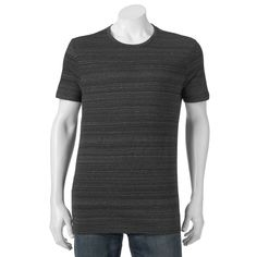 Men's Apt. 9® Modern-Fit Striped Tee, Size: Medium, Black