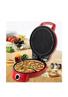 Best makes dosa, roti and more with Wonderchef Italia Pizza Maker (Red) Safe to Use with Non-Skid Footing at Fashionothon.com buy electric pizza maker, fashionothon  Shop online - http://www.fashionothon.com/home-and-kitchen/Wonderchef-Italia-Pizza-Maker