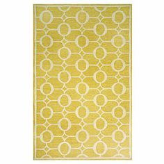Love this bright, cheery fade resistant rug --perfect for a deck or porch sitting area #CoastalLiving.com
