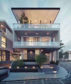 New House Facade Modern Exterior Design Ideas Villa Design, Modern House Design, Architecture Résidentielle, Contemporary Architecture, Modern Contemporary, Contemporary Apartment, Contemporary Bedroom, Contemporary Building, Contemporary Cottage