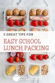 Five Tips for easy school lunch packing