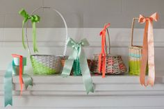 Easter Baskets: 4 Ways | Oh Happy Day!